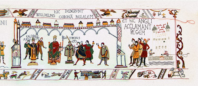 William's Coronation, 1066 - The Bayeux Tapestry