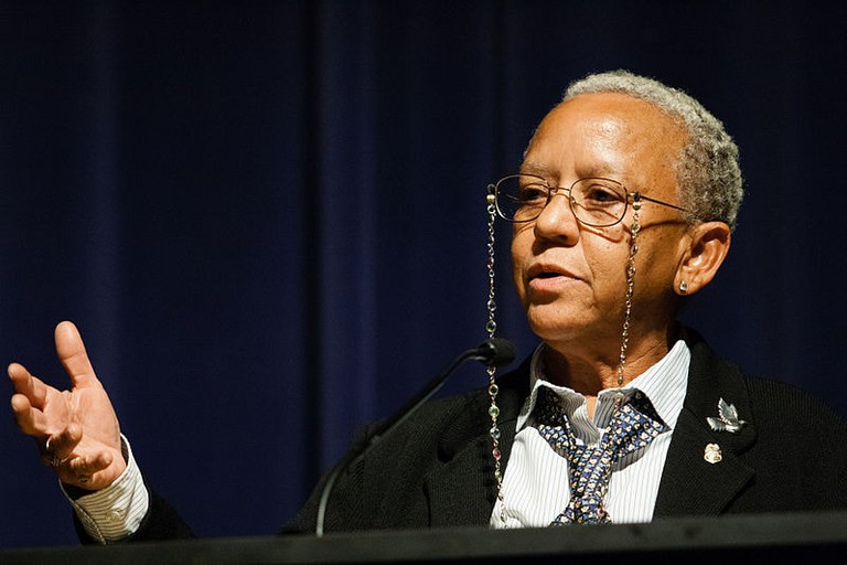 Nikki Giovanni speaking at Emory University 2008