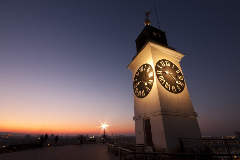Petrovaradin's unusual clock