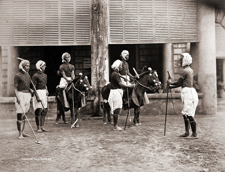 Polo players in Manipur in 1875