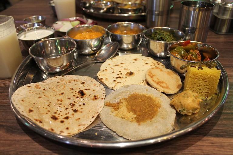 Rajasthani Thali at Bhoj Restaurant, Aurangabad