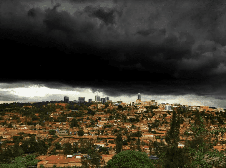 The stormy Kigali skyline | Courtesy of Tobias Clarke