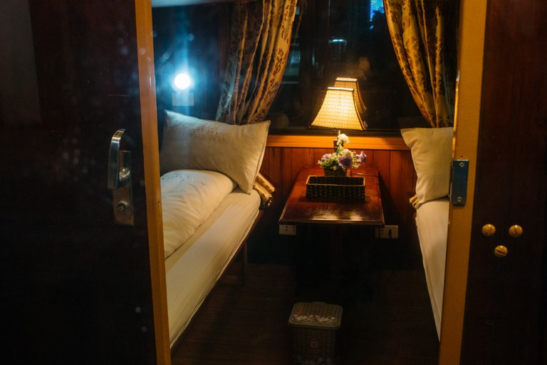 The cabins are luxuriously designed