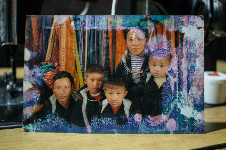 Family photo: Mr Thao A Sinh and his family