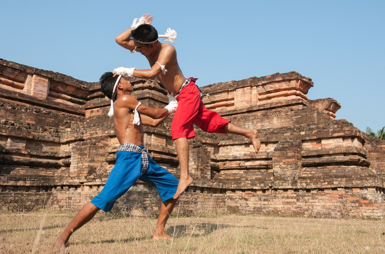Muay Thai and historic ruins