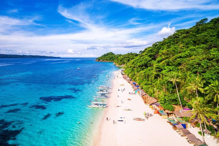 Aerial View of Boracay Island