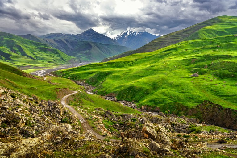 View from nearby Xinaliq Village | © mbrand85/Shutterstock
