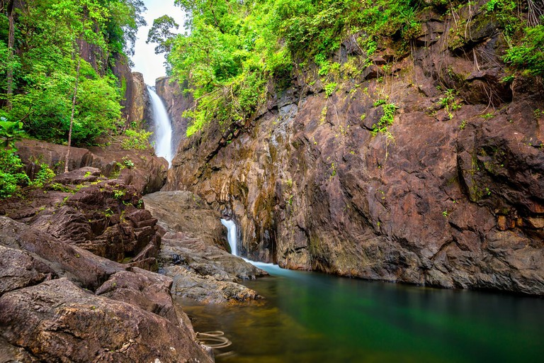 Khlong Phlu waterfall on the Thai island of Koh Chang