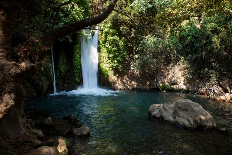Banias Waterfall in the Golan Heights, Israel