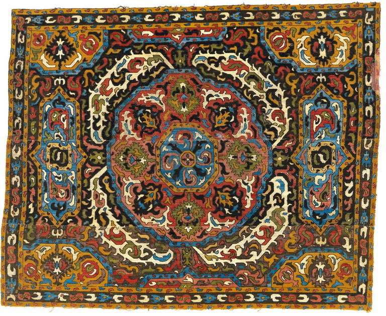 Example of silk embroidery from Azerbaijan | © hali.com/WikiCommons