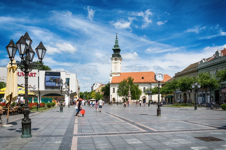 The delightful pedestrian centre of Sombor