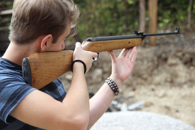 https://pixabay.com/en/shooting-man-rifle-aim-gun-shoot-2710039/