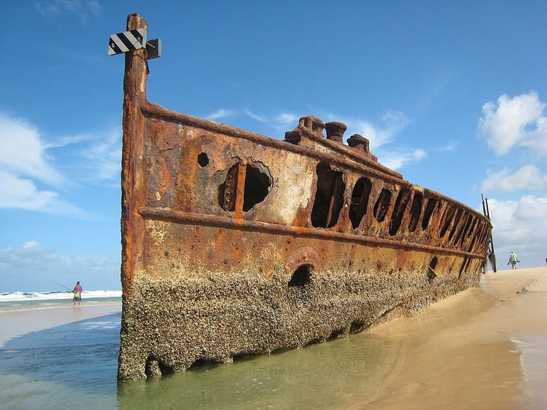 SS Maheno shipwreck | © Fabian Chaveriat:Wikimedia Commons