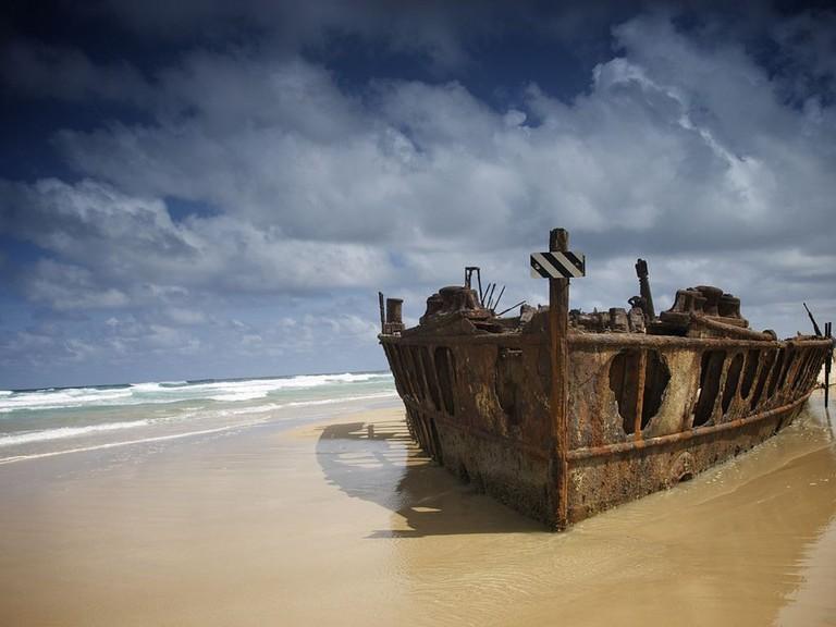 SS Maheno shipwreck | © Majkelx:Wikimedia Commons