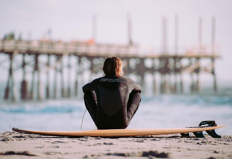 surfer, surfing, ocean