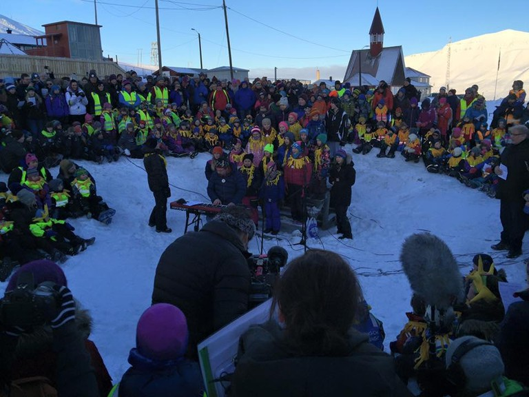 The celebration has started | Courtesy of Longyearbyen Kulturhus