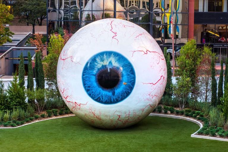 Tony Tasset's The Eye │Courtesy of The Joule