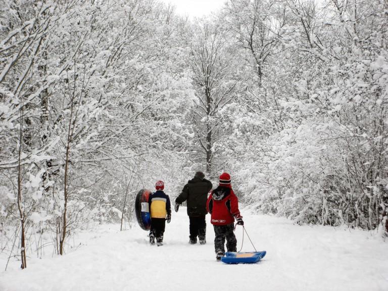Sledding in Wisconsin | © VISIT Milwaukee