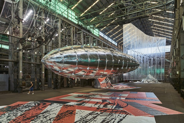 Lee Bul, Installation view of 'Willing To Be Vulnerable (2015-16) at 20th Biennale of Sydney, 2016. Courtesy: Studio Lee Bul