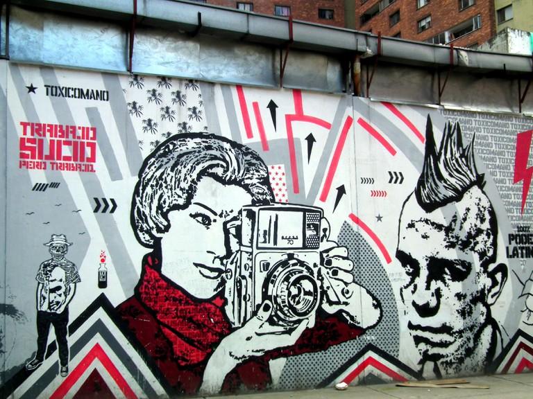 Street art on the Bogota Graffiti Tour