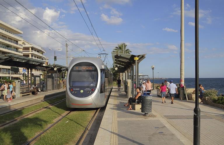 Tram at Flisvos (Paleo Faliro)