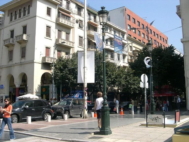Corner of Tsimiski street and Aristotelus square, Thessaloniki