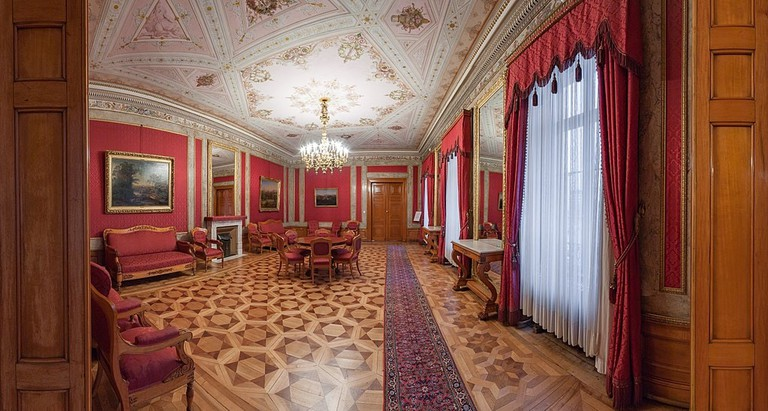 Interior of Red Salon in Wiesbaden City Palace