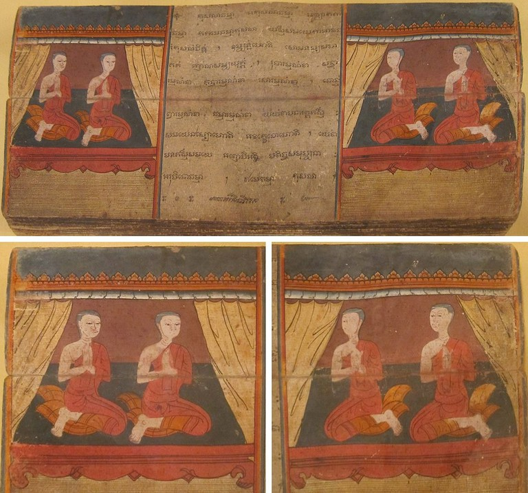 A manuscript from Jataka tales which has many stories about Gautama Buddha's previous births