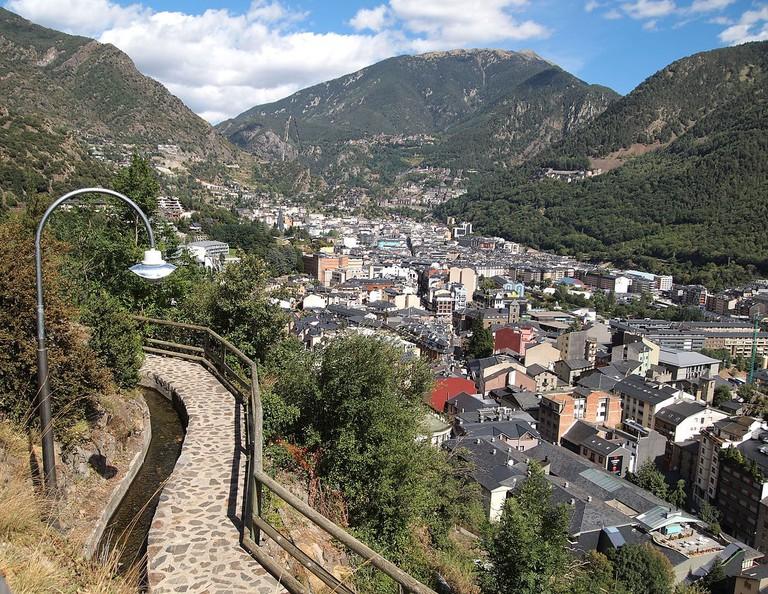 View over the city of Andorra la Vella