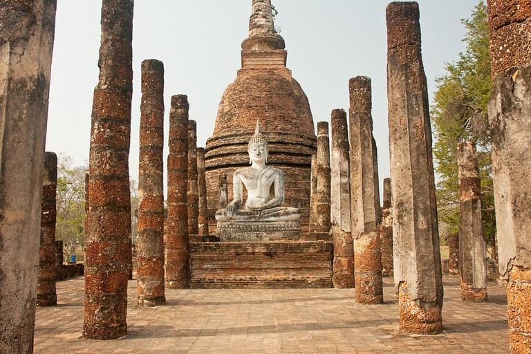 One of Sukhothai's many old ruins