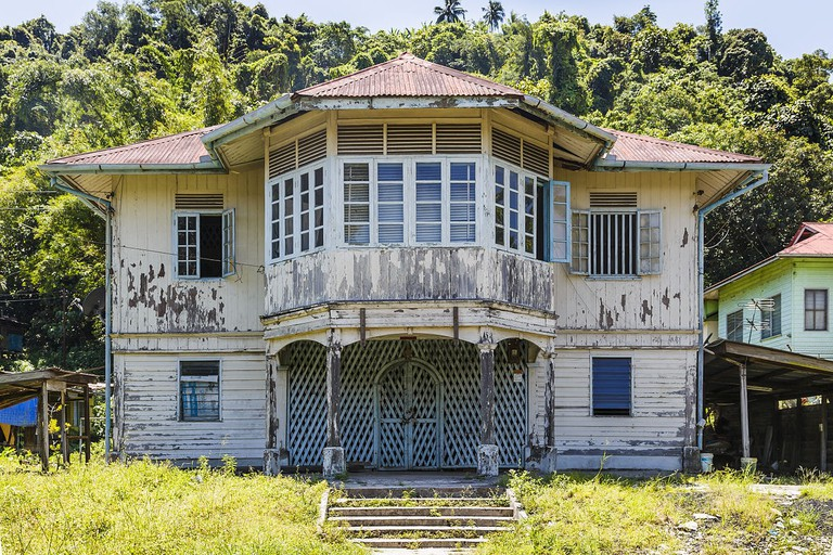 Old British colonial-style house in Sabah