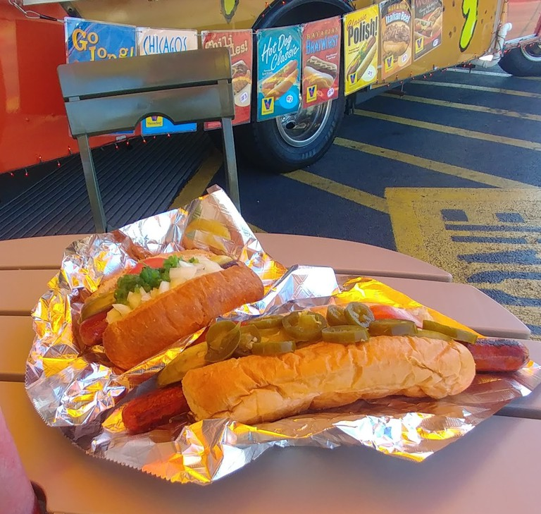 T.J.'s Dawg House serves Chicago-style hot dogs from a food truck