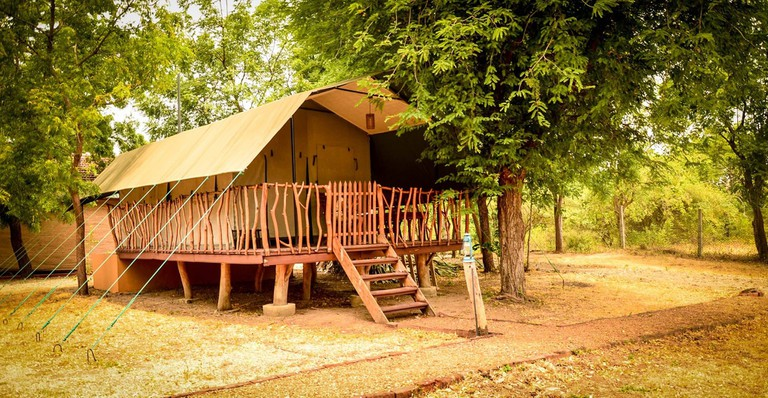 Tented glamping at Camp Leopard
