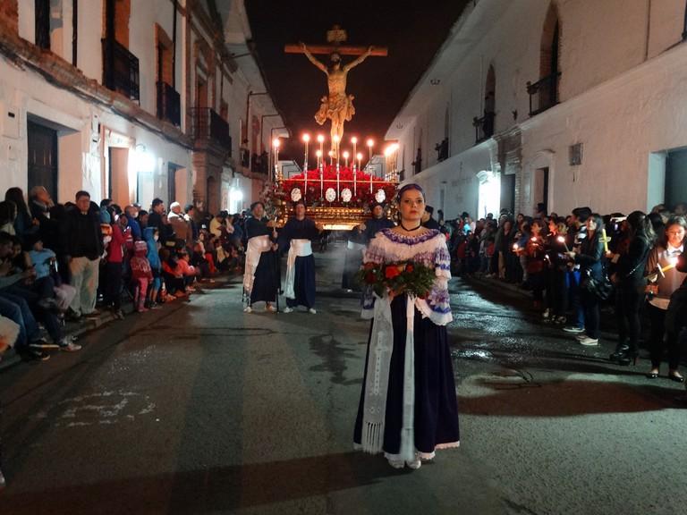Religious procession in Popayan during Semana Santa
