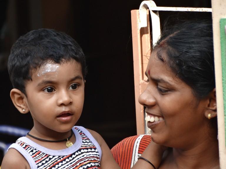 Sri Lankan mother and daughter in Jaffna