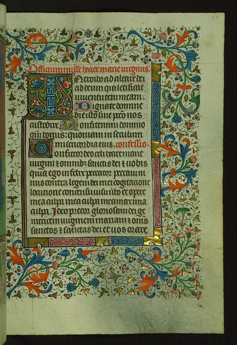 Example of a page in a Book of Hours