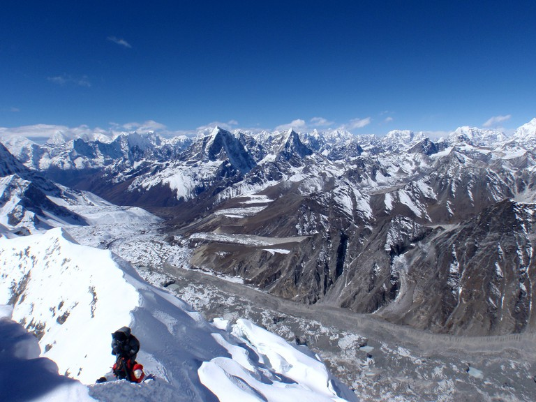 Mountain climbing in the Nepal Himalaya