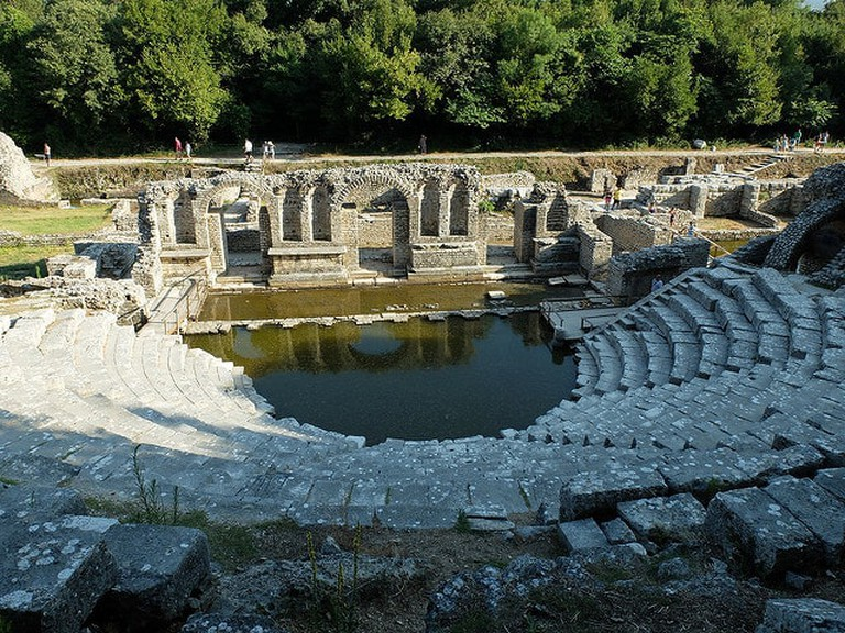 The Roman Theater of the Archaeological Park of Butrint