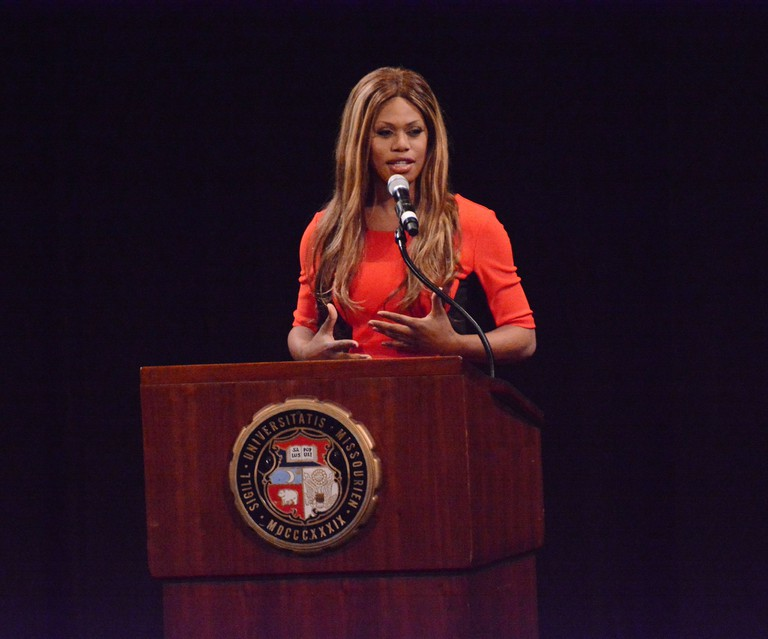 Laverne Cox takes the stage at the Missouri Theatre