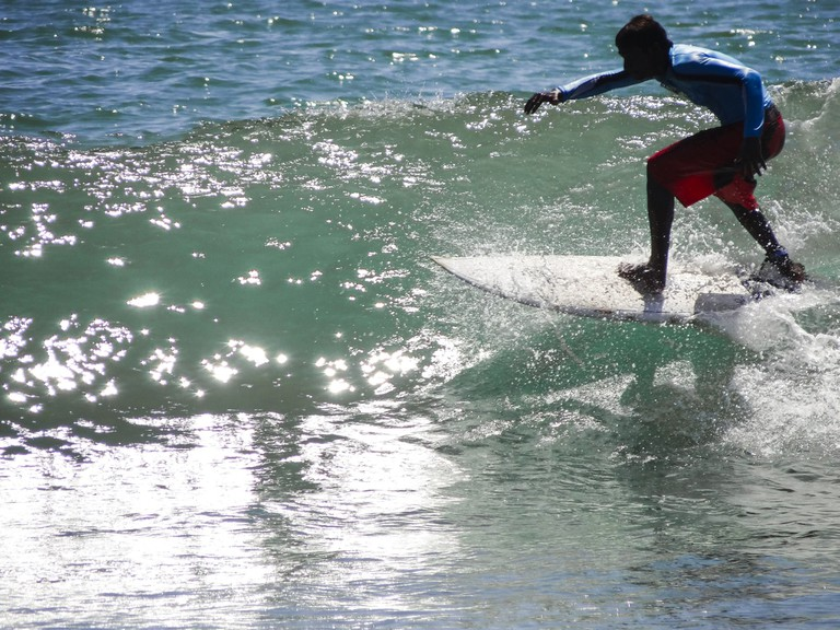 Chennai's Kovalam Beach has become a popular destination for surfing in recent years