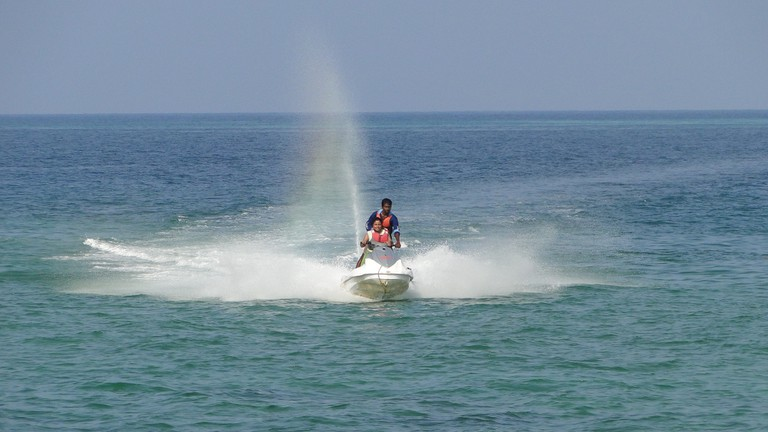 Water sports are offered at the Rajiv Gandhi Water Sports Complex and several other places in Port Blair