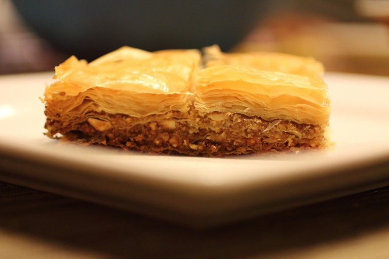 Baklava with nuts