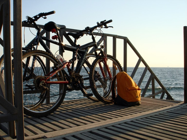 Bikes at the Limassol seafront
