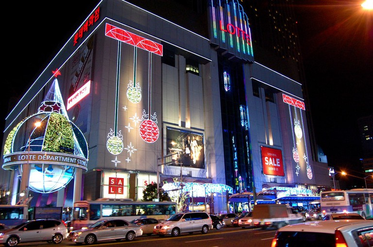 Lotte Department Store at Christmas
