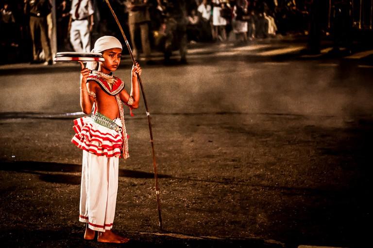 Young Buddhist dancer at the Kandy Perahera