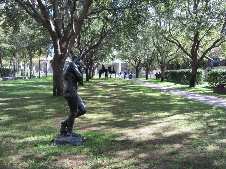 The Nasher Sculpture Museum has an outdoor garden with stunning sculptures