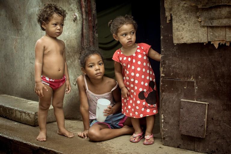 Kids in a favela in Rio