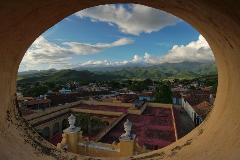 The view from the Museo Nacional de Lucha Contra Bandidos in Trinidad, Cuba