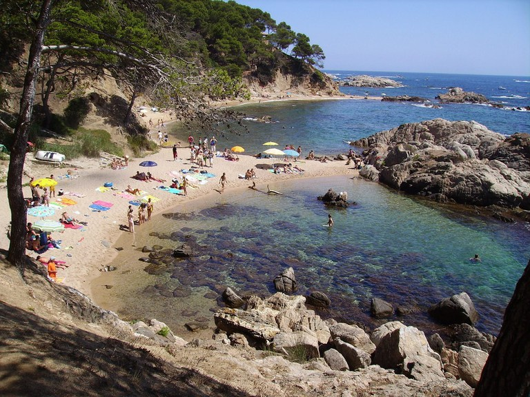 beach in the Costa Brava, Catalonia