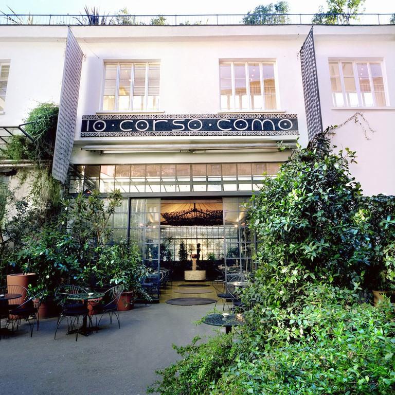 The verdant entrance of 10 Corso Como concept store, Milan | Courtesy 10 Corso Como, Milan
